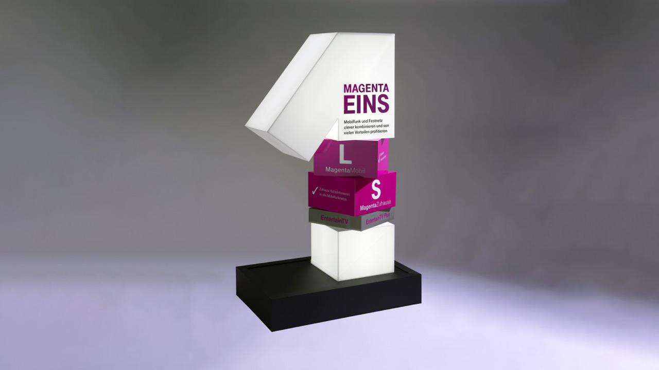 3-D Pylon aus PLEXIGLAS® - MAGENTA EINS